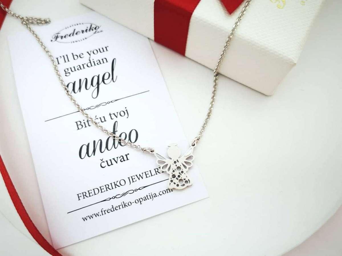 Happy Angel srebrna ogrlica