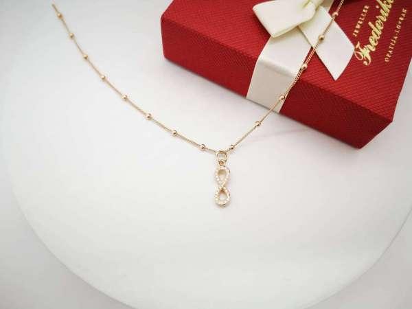 Infinity rose srebrna ogrlica