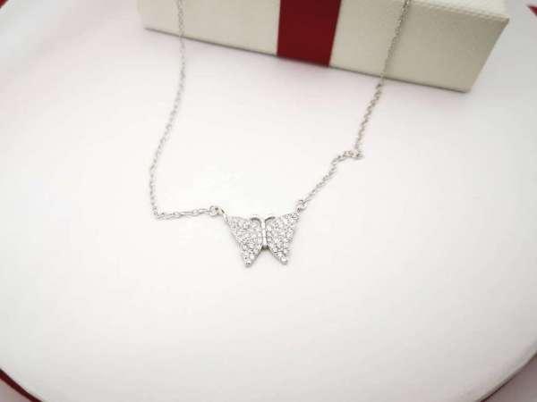 Sparkling Butterfly srebrna ogrlica