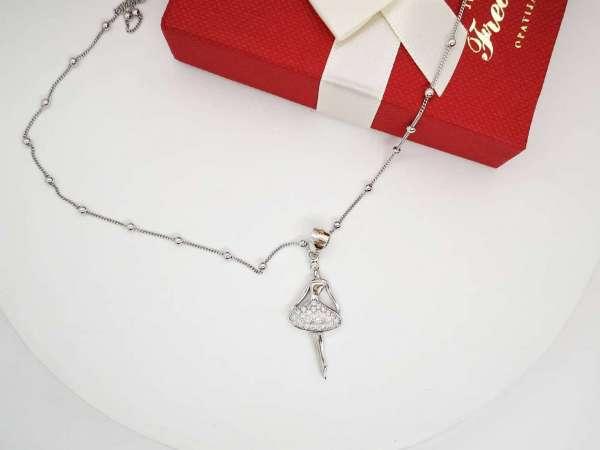 Srebrna ogrlica Balerina