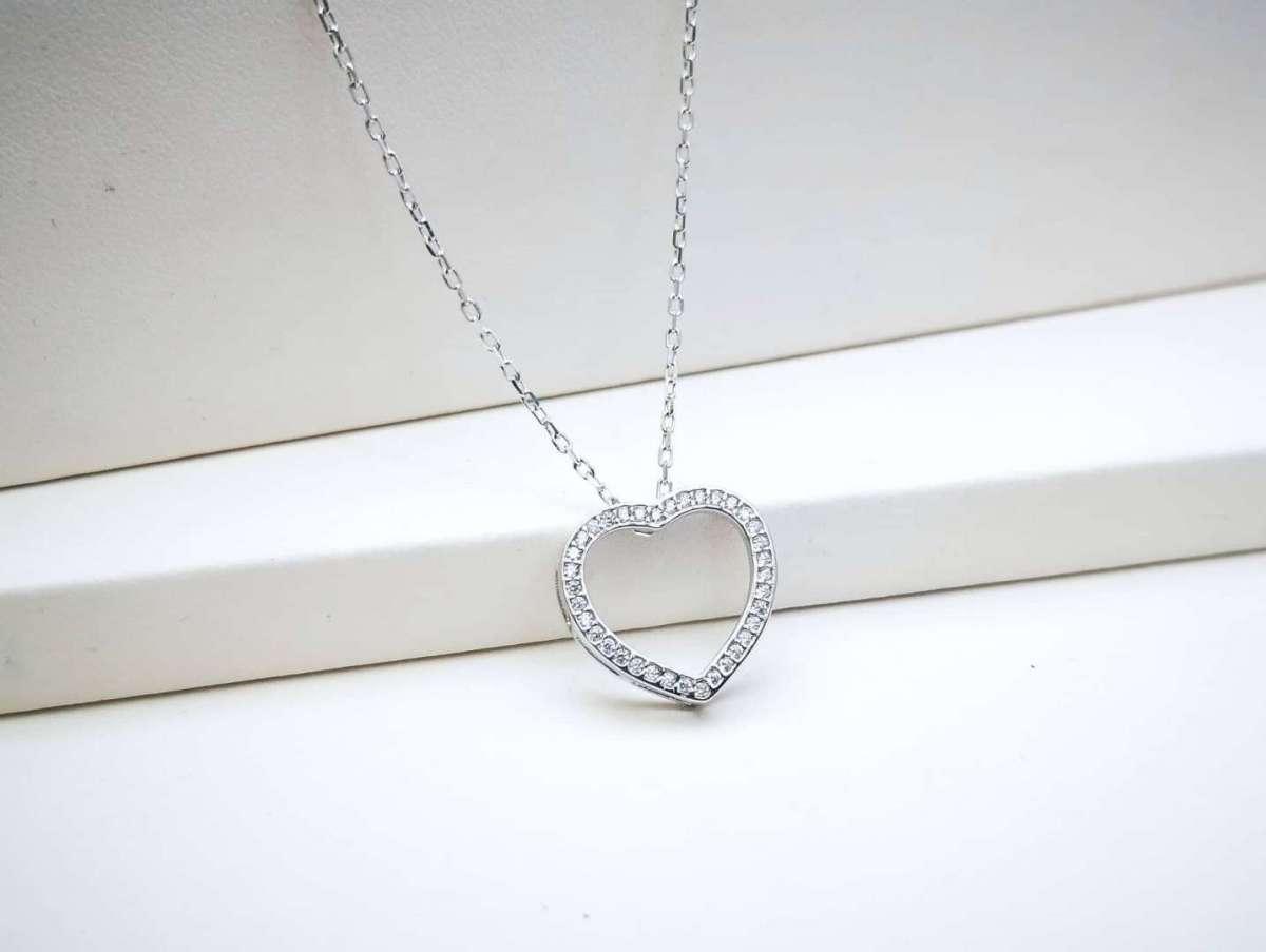 Srebrna ogrlica Open Heart