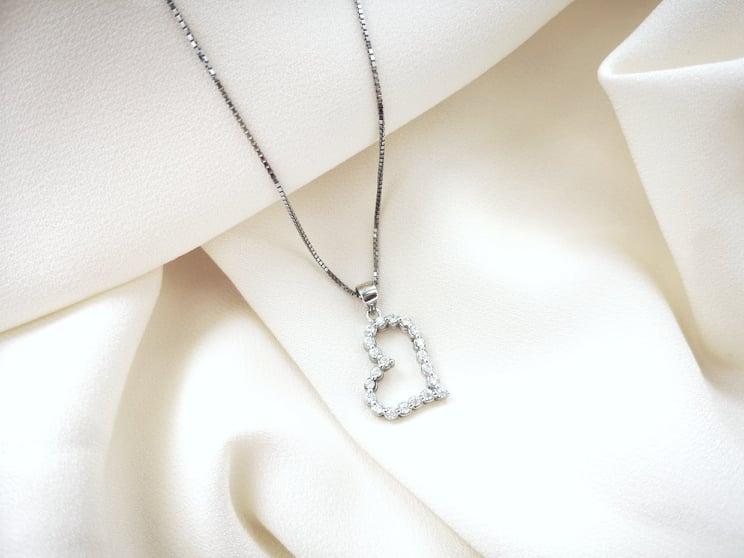 Srebrno srce ogrlica