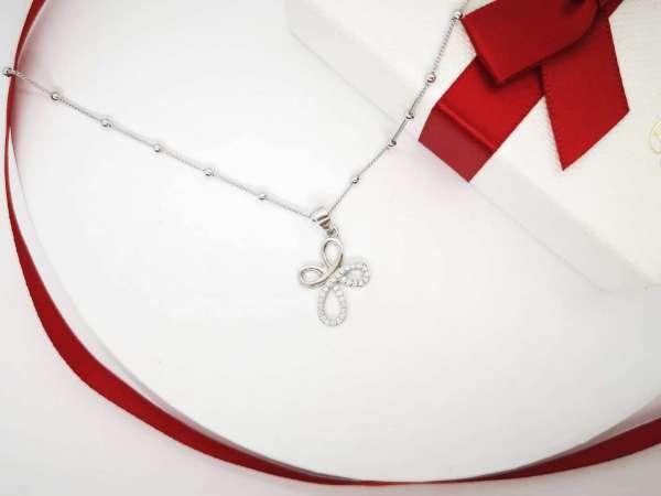 Infinity cross srebrna ogrlica