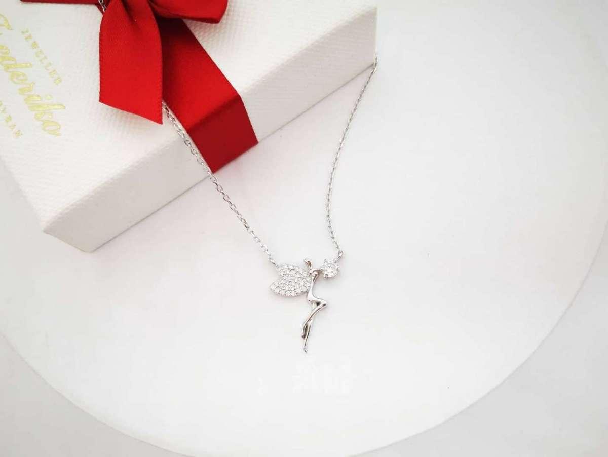 Vila srebrna ogrlica, tinkerbell, zvončica