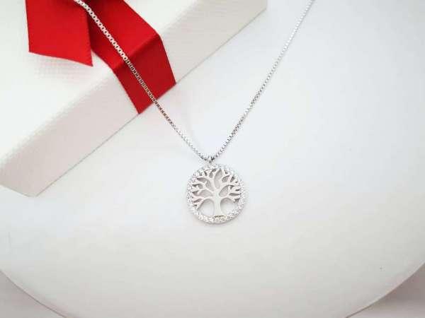 Drvo života srebrna ogrlica