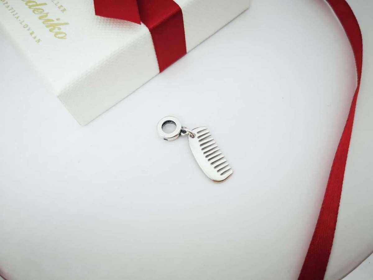 Hair Stylist srebrni privjesak češalj za narukvice Pandora i slične
