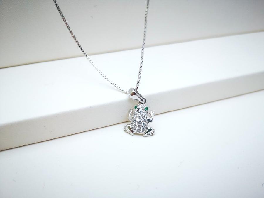 Žabac srebrna ogrlica