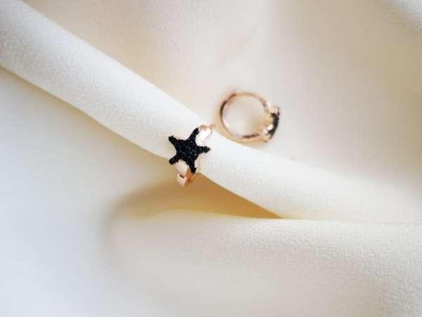 Black Star srebrne naušnice (2)