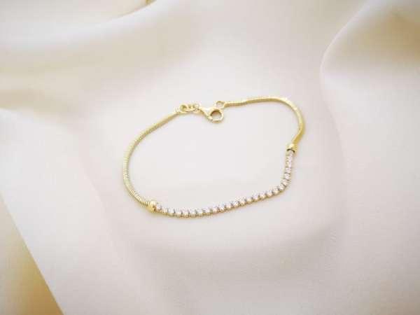 Glamour gold srebrna narukvica