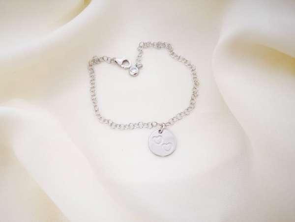 Ljubav srebrna narukvica