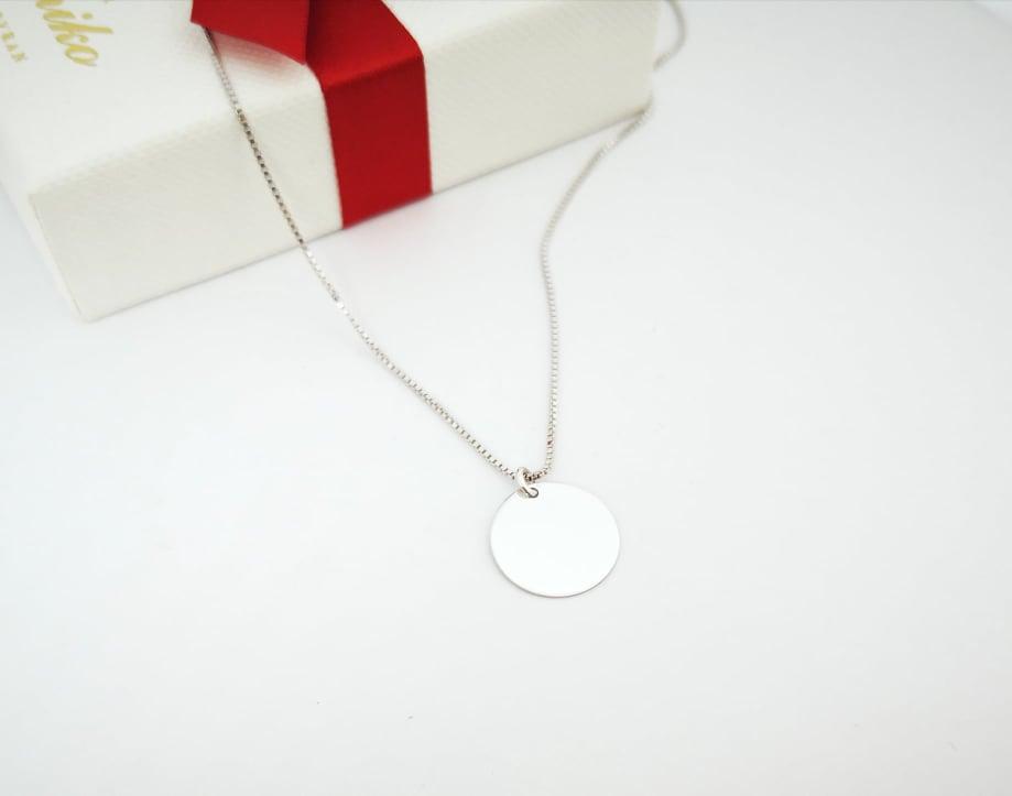 Mini srebrna ogrlica medaljon
