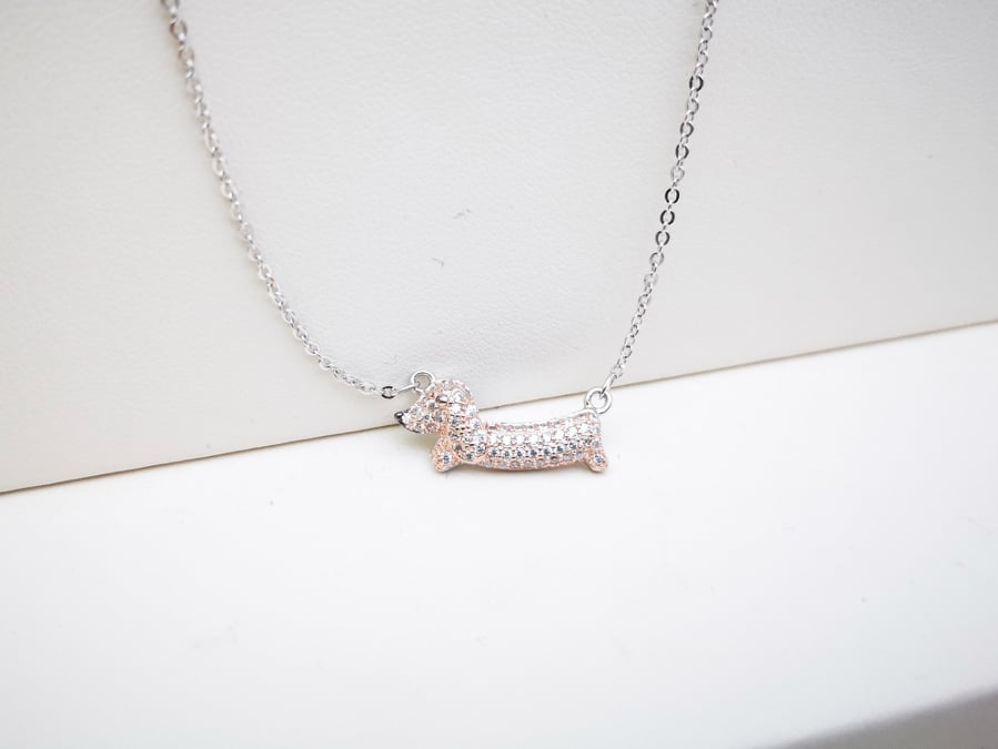 Psić srebrna ogrlica