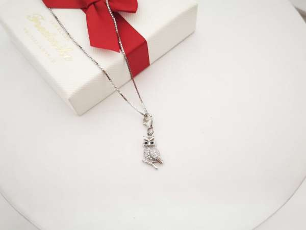 Sova srebrna ogrlica