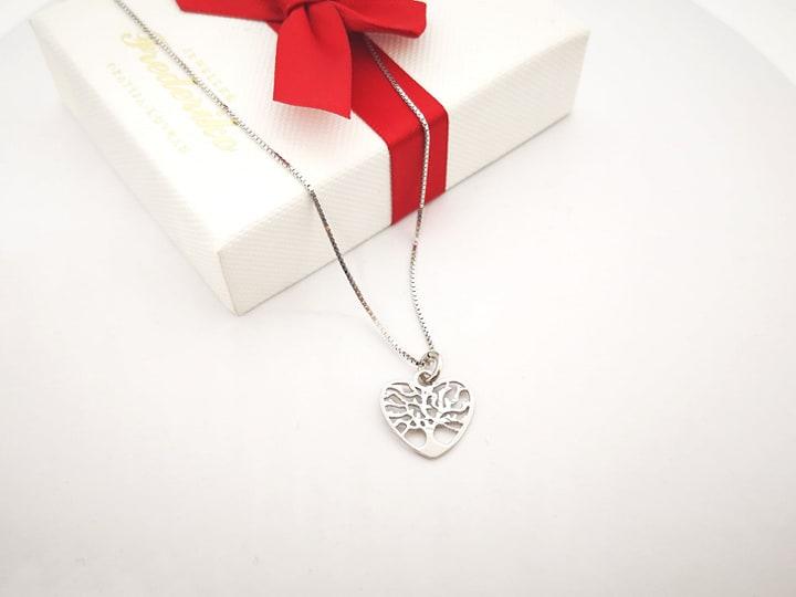 Srce drvo života srebrna ogrlica