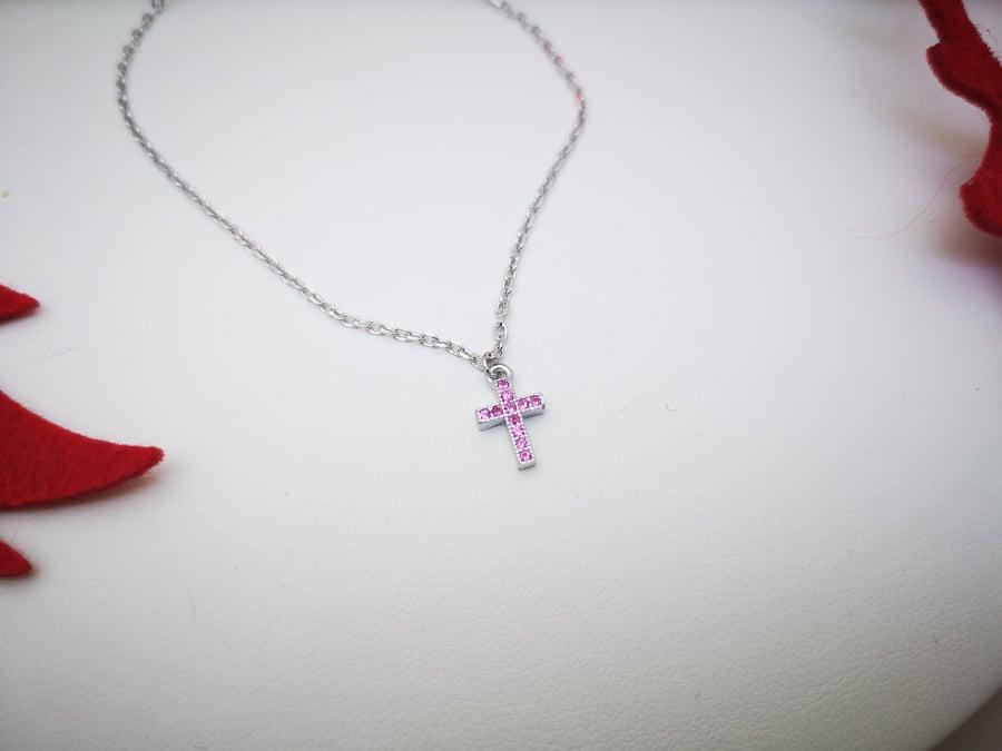 Srebrna ogrlica Cross