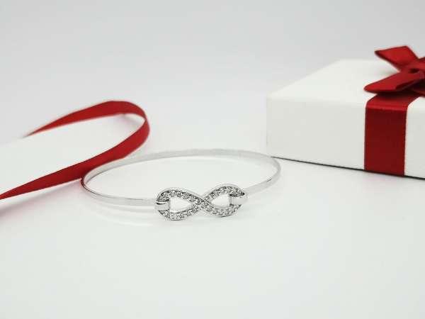 Infinity Love srebrna narukvica
