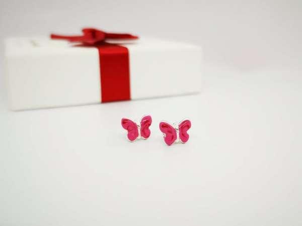 Leptir srebrne naušnice za djevojčice