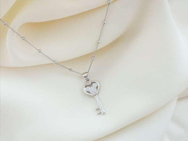 Mickey key srebrna ogrlica