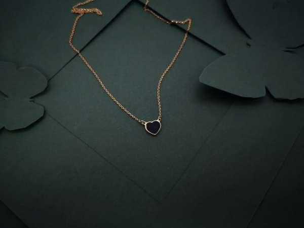 Srce gold mini srebrna ogrlica