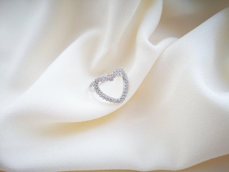 Srce ljubavi srebrni prsten