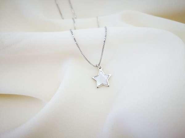 Zvijezda madreperla srebrna ogrlica