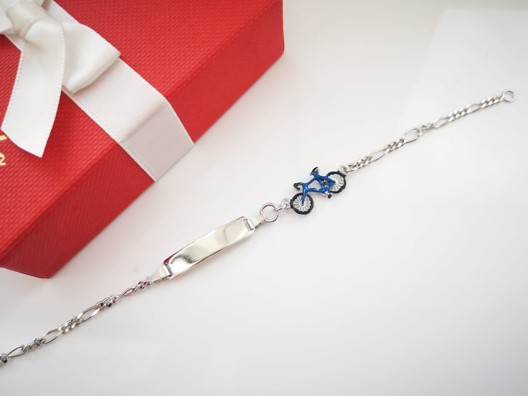 Bicycle srebrna narukvica za djecu