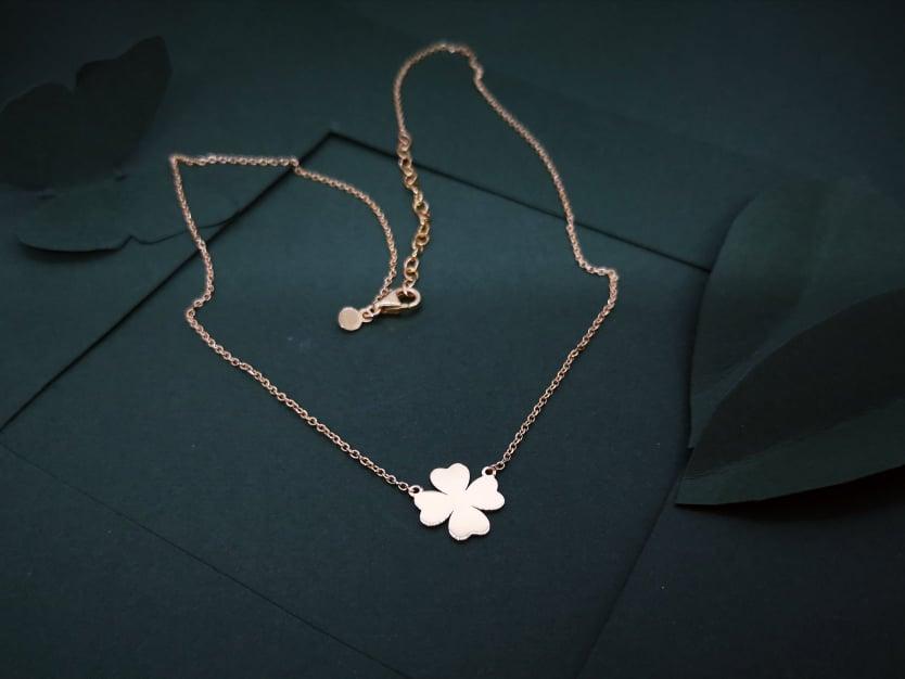 Djetelina ljubavi srebrna ogrlica pozlata