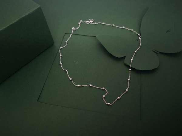 Kuglice srebrni lančić 44