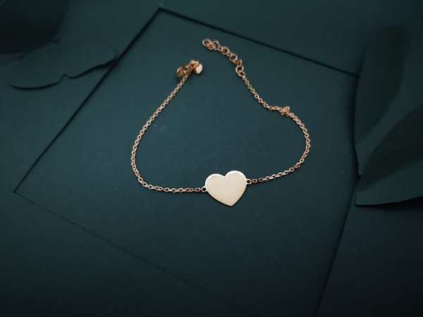 Srce ljubavi pozlaćena srebrna narukvica