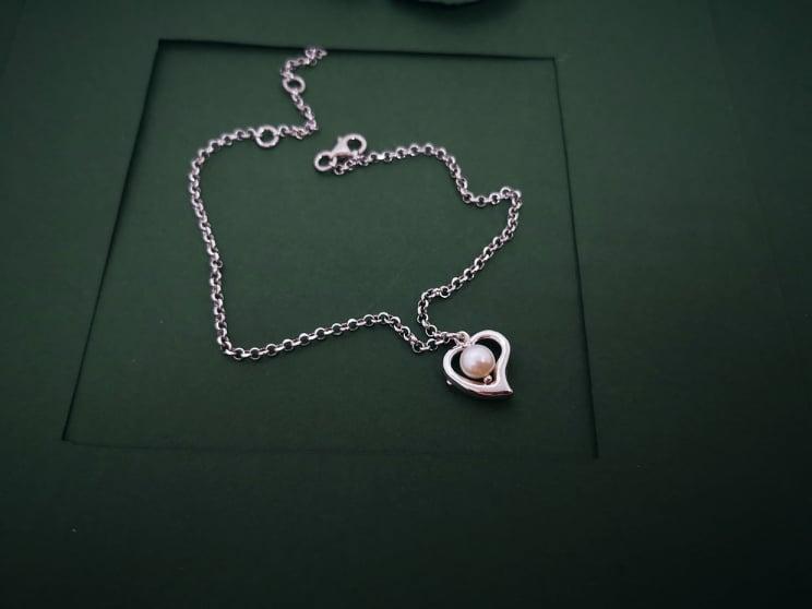 Srce perla srebrna nanognica