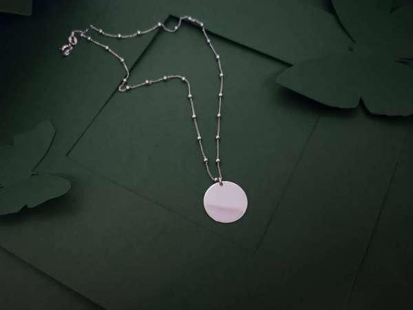 Srebrna ogrlica medaljon big