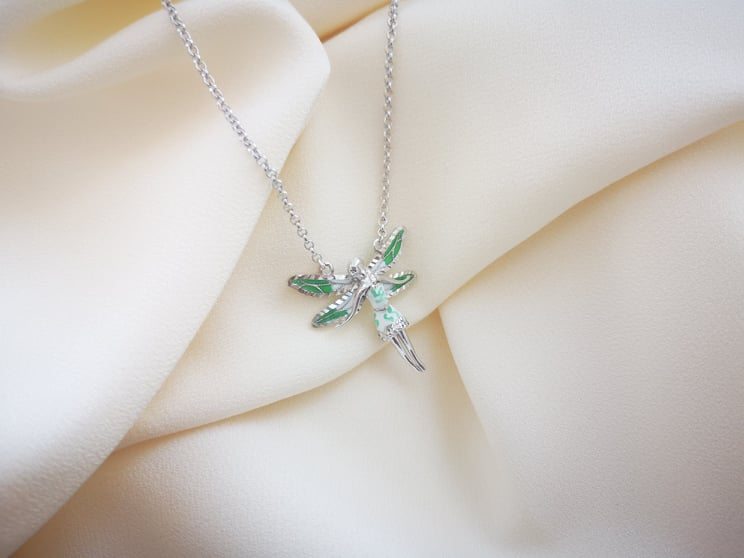 Tinkerbell srebrna ogrlica