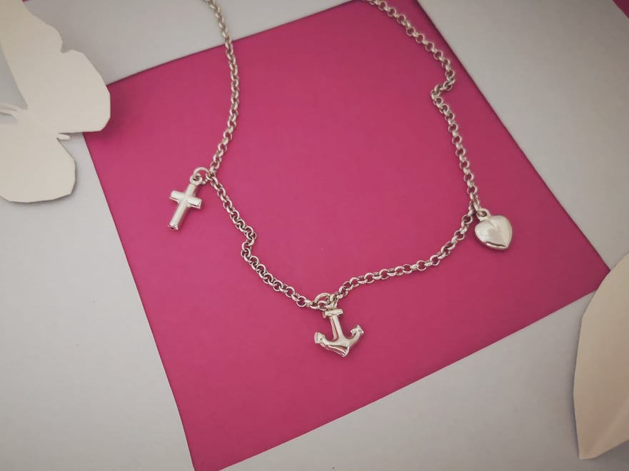 Vjera Nada Ljubav srebrna narukvica
