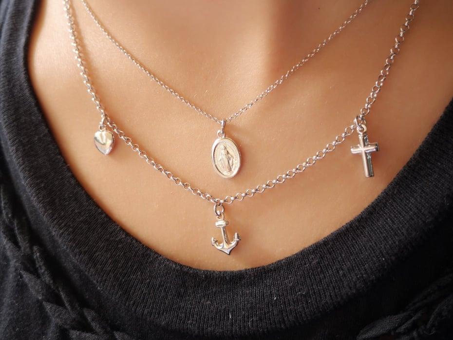 Vjera Nada Ljubav srebrna ogrlica