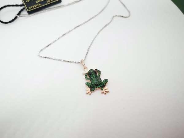 Frog srebrna ogrlica