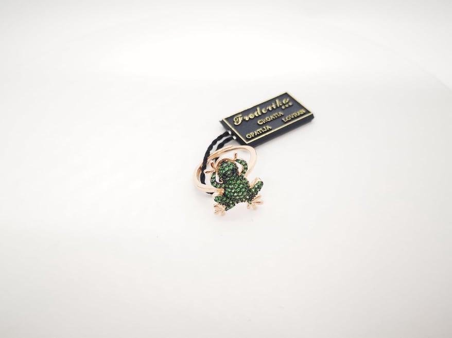 Frog srebrni prsten