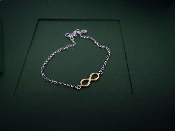 Infinity srebrna nanognica