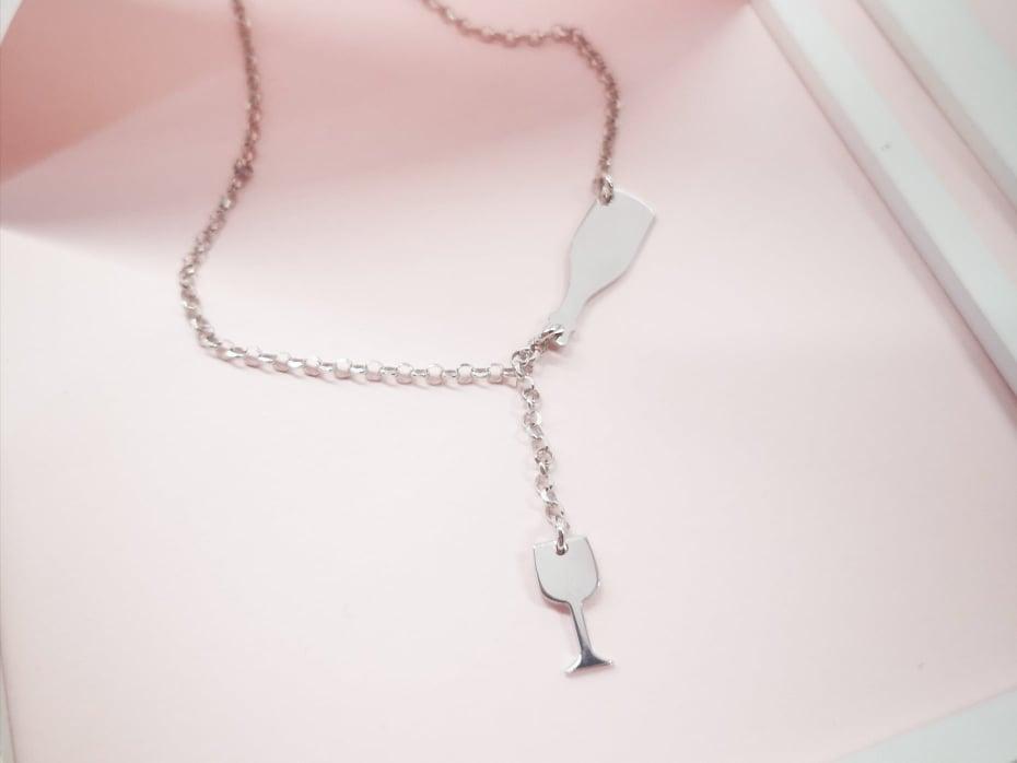 Čaša uvijek puna srebrna ogrlica
