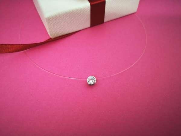 Cirkon srebrna ogrlica
