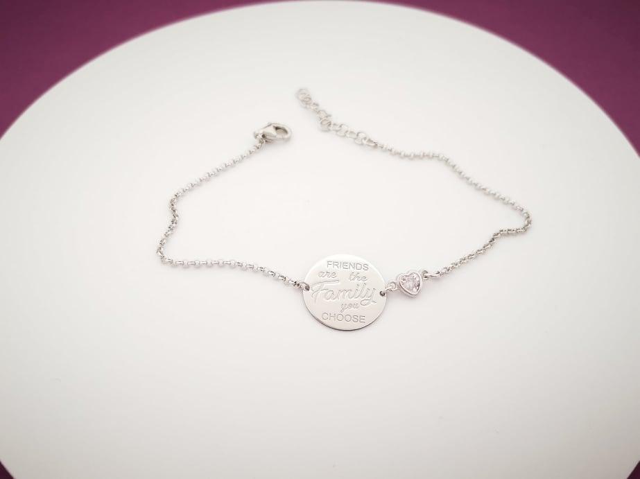 Friends srebrna narukvica medaljon