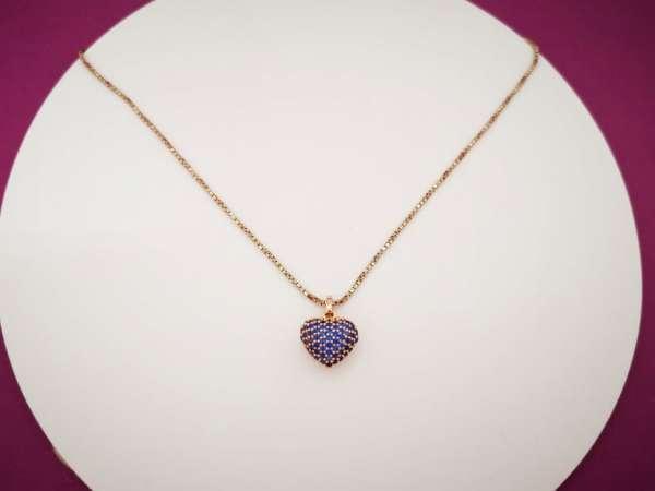 Plavo srce srebrna ogrlica