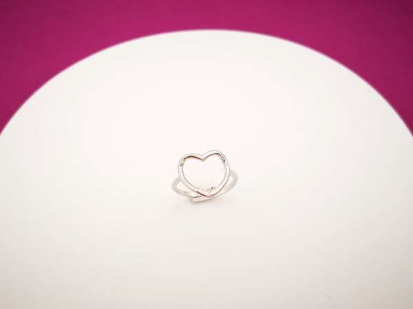 Obris srca srebrni prsten M