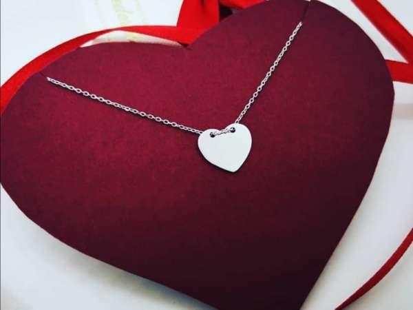 Medaljon srce srebrna ogrlica
