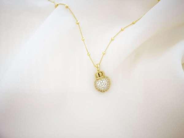 Queen of heart srebrna ogrlica