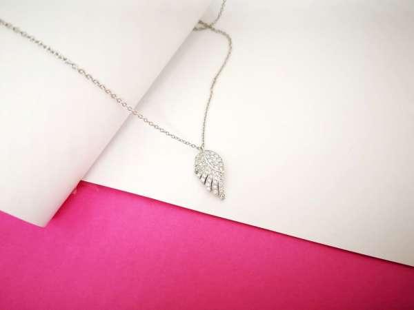 Anđeosko krilo srebrna ogrlica