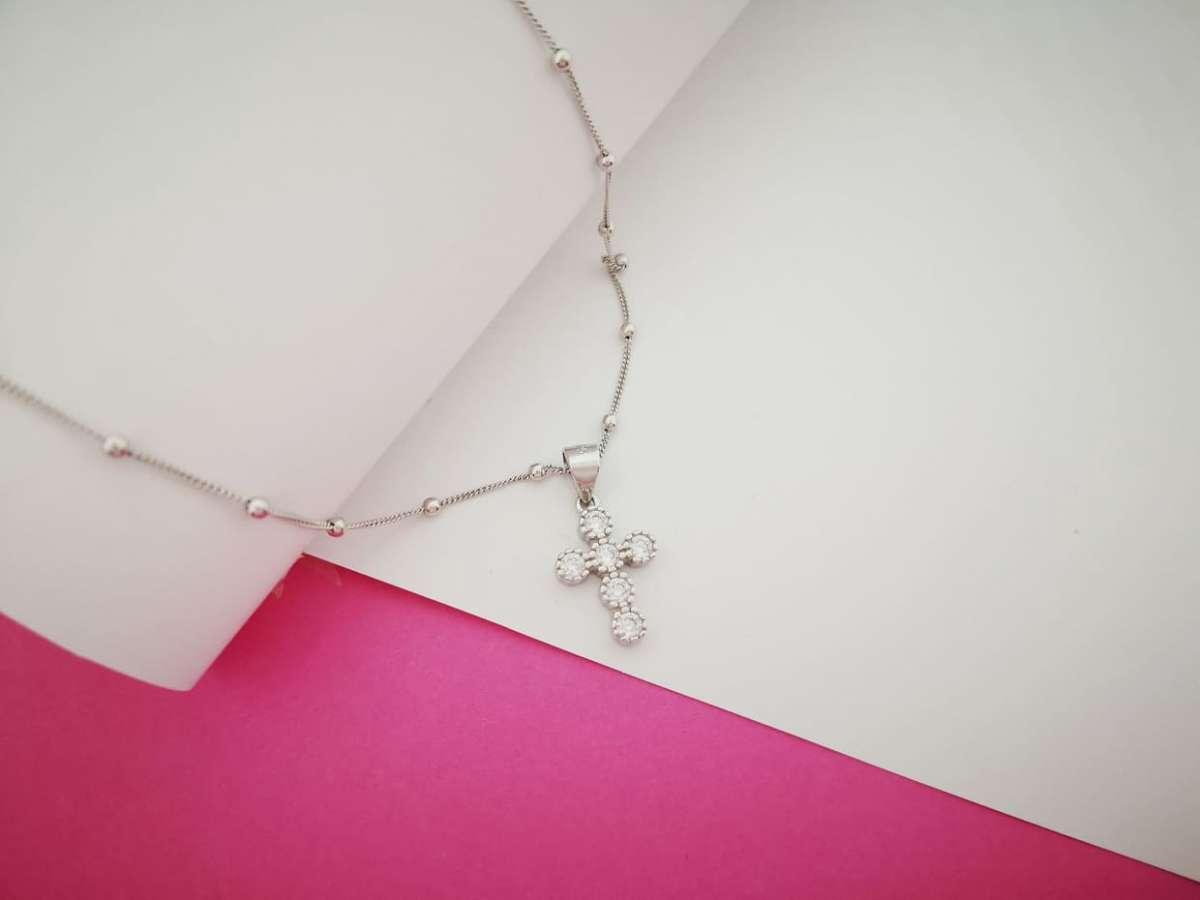 Cross Srebrna ogrlica