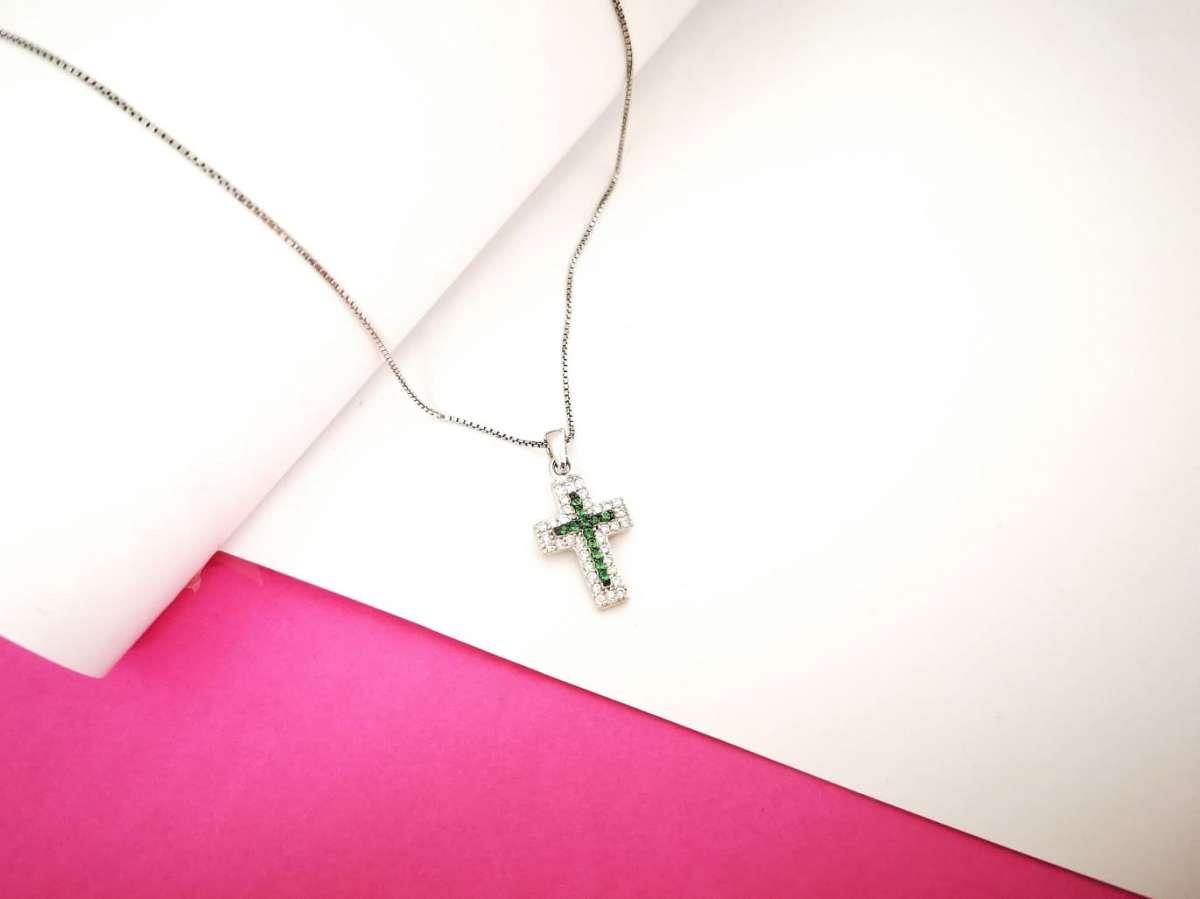 Srebrna ogrlica Faith