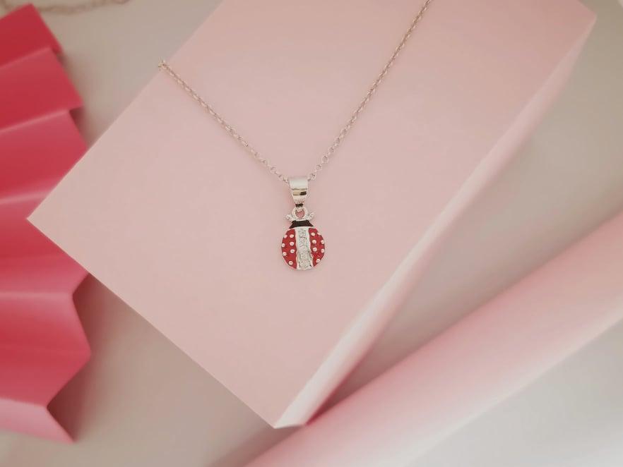 Bubamara srebrna ogrlica