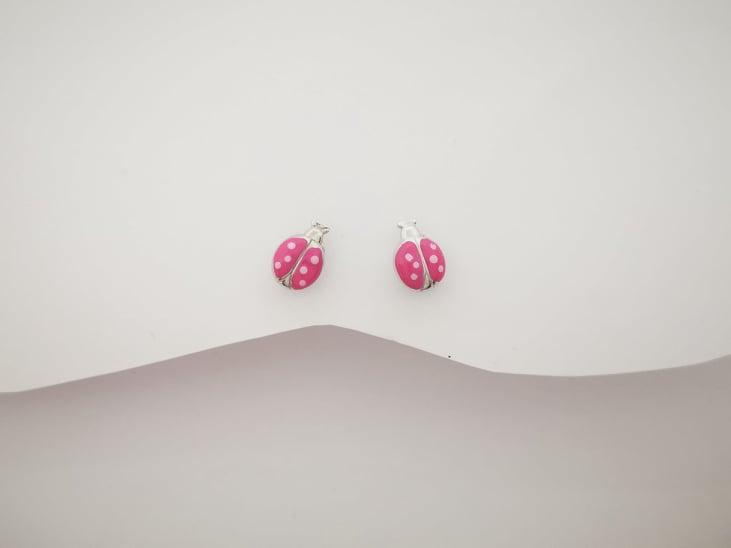 Bubamare pink srebrne naušnice