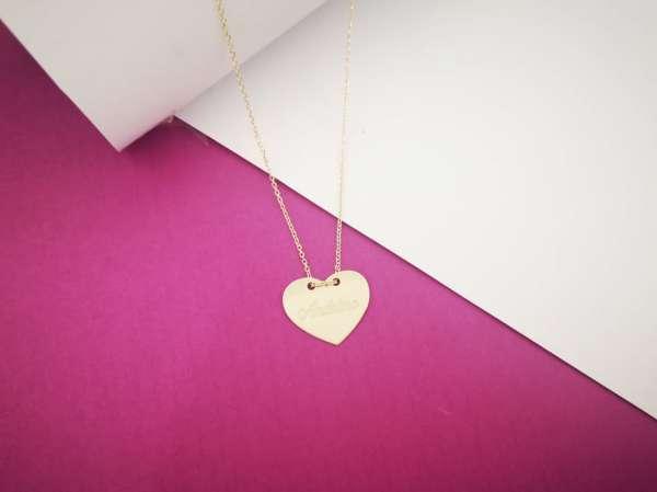 Medaljon srce zlatna ogrlica